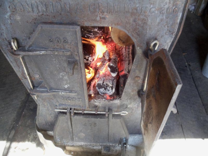 The evaporator firebox.