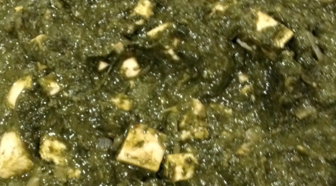 Palak Paneer (Spinach with Indian Style Cheese)