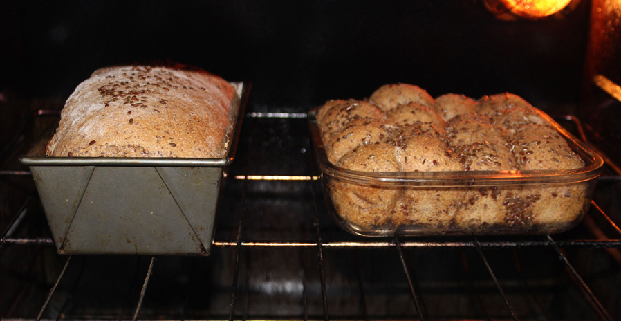 Phylilis' Bread, Baking.