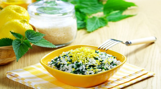 Stinging Nettle Risotto