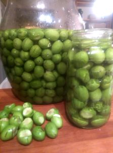 Olives in jars