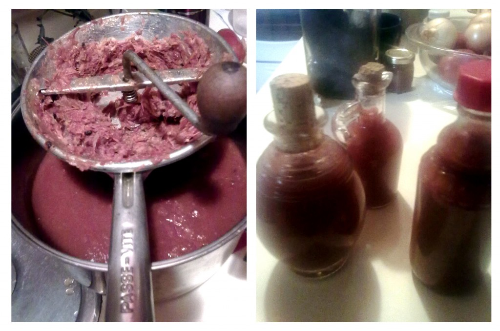 Homemade ketchup - easy to make and uses the scraps from tomato canning and sauce making.
