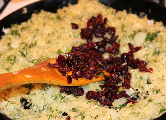 Rice Dill Cranberries